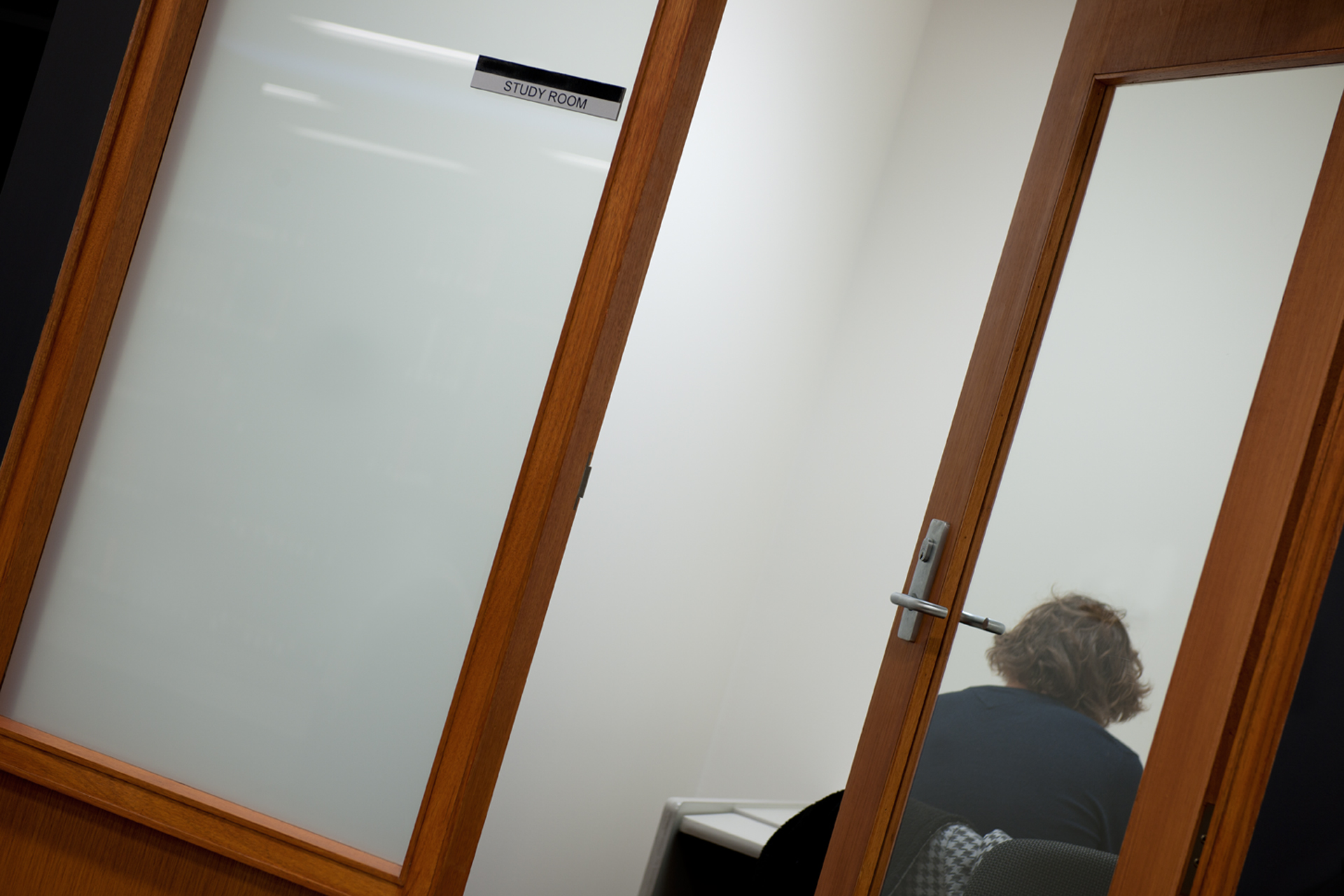 Open doorway leading to study area