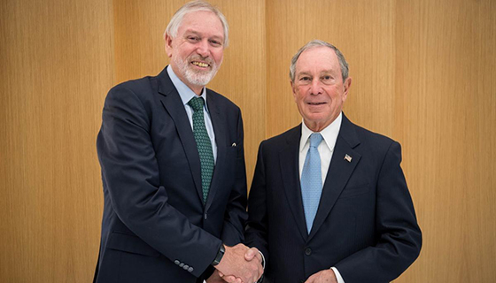 Alan Lopez and Michael Bloomberg