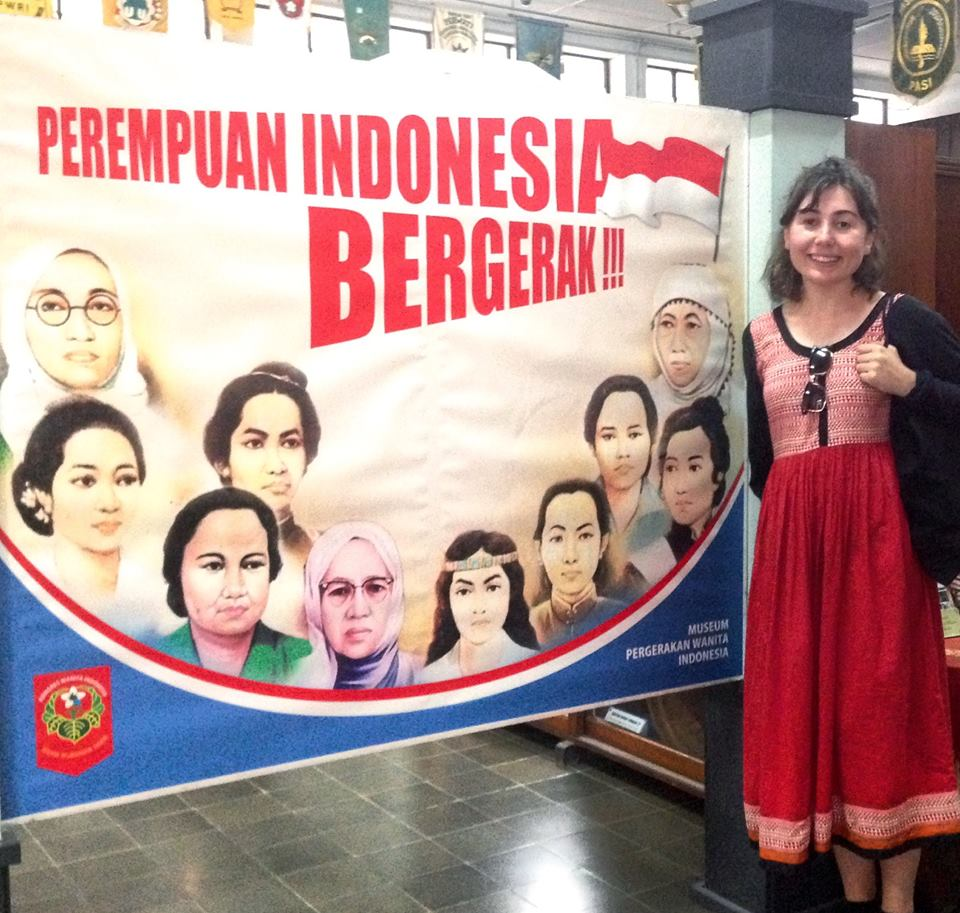 Bronwyn at the Museum of the Indonesian Women's Movement in Yogyakarta