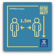 graphic showing two people 1.5m apart