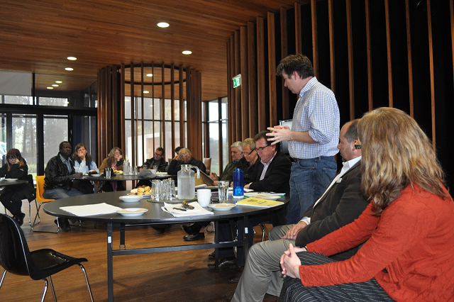 First panel discussion held in the beautiful Narbethong Community Hall