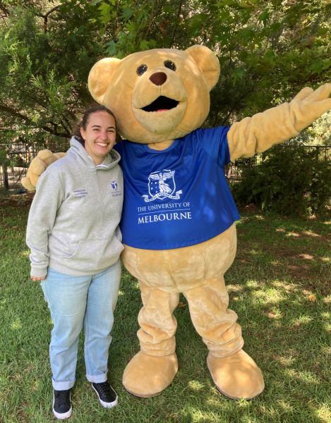 Arielle with Barry the Bear