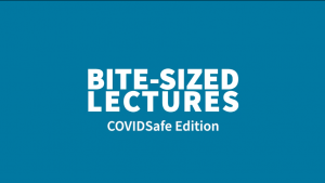 Bite-sized lectures – COVIDSafe Edition