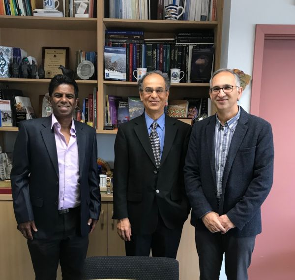 Left to right: Prof Pryan Mendis, Prof Venkatesh Kodor, and Prof Abbas Rajabifard