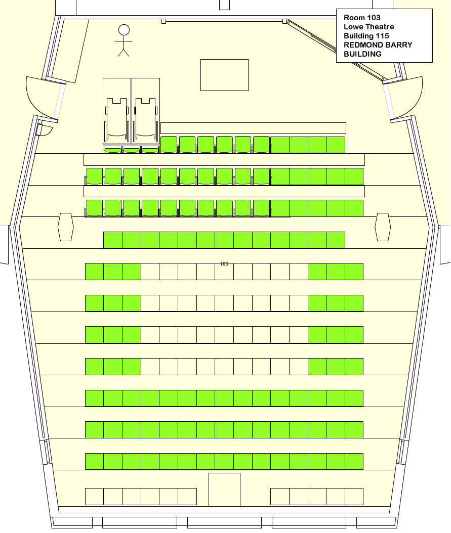 Lowe Theatre 103 Seating plan
