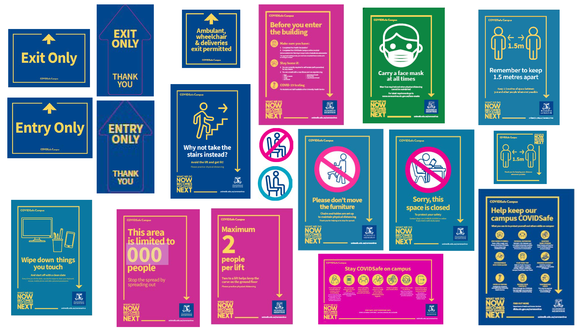 selection of public health signage