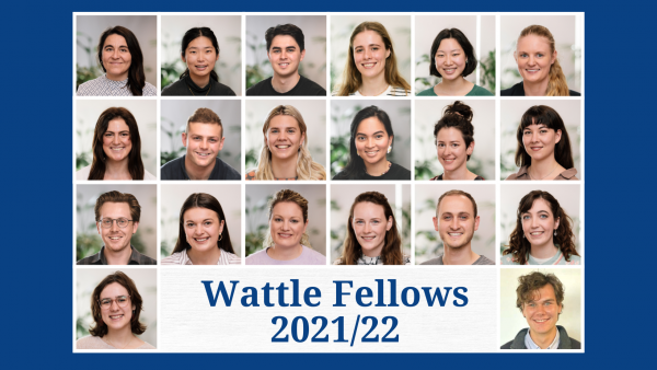 Group image of Watlle Fellows 2021-22