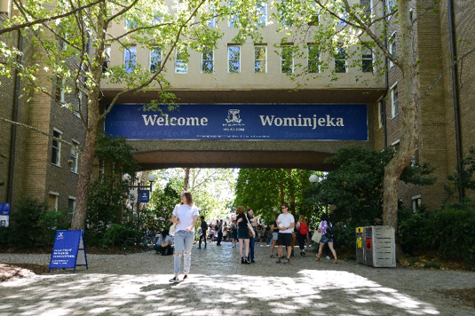 Entrance to the University from Grattan street